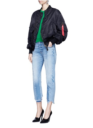 Figure View - Click To Enlarge - BALENCIAGA - Raglan sleeve French terry sweatshirt
