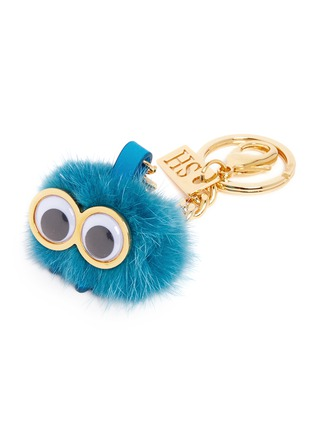 Detail View - Click To Enlarge - Sophie Hulme - Small mink fur pompom monster keyring