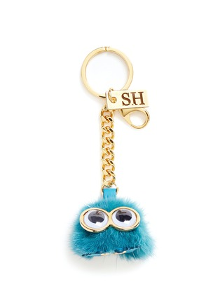 Main View - Click To Enlarge - Sophie Hulme - Small mink fur pompom monster keyring