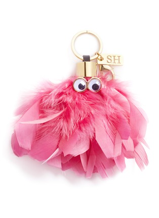 Main View - Click To Enlarge - Sophie Hulme - 'Dolly' ethical Turkey feather keyring