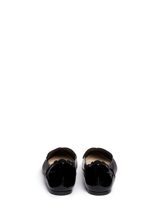 Back View - Click To Enlarge - Isa Tapia - 'Clement' suede heart patent leather skimmer flats