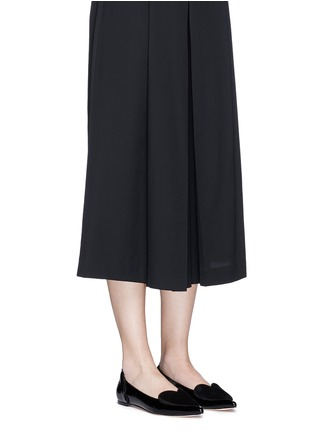 Figure View - Click To Enlarge - Isa Tapia - 'Clement' suede heart patent leather skimmer flats