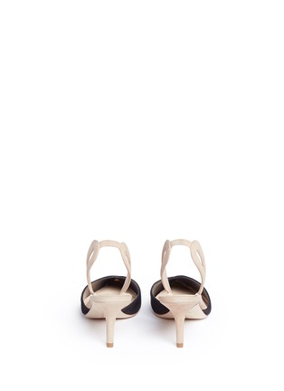 Back View - Click To Enlarge - Isa Tapia - 'Clementina' slingback suede d'Orsay pumps