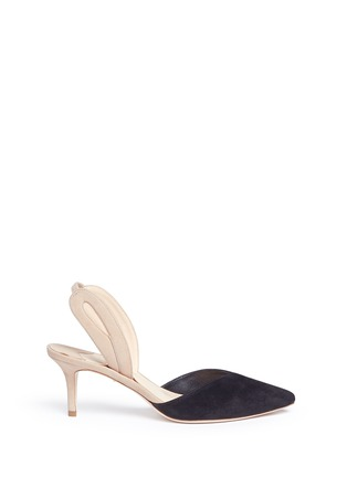 Main View - Click To Enlarge - Isa Tapia - 'Clementina' slingback suede d'Orsay pumps