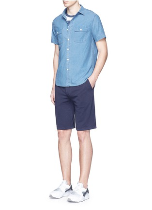 Figure View - Click To Enlarge - Alex Mill - 'Dobby Roadhouse' stitch chambray shirt