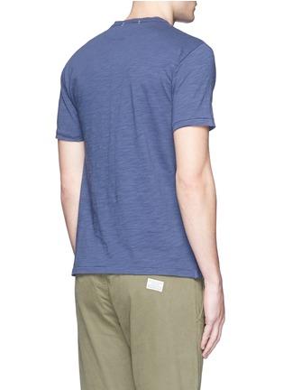 Back View - Click To Enlarge - Alex Mill - Garment dyed cotton slub Henley shirt