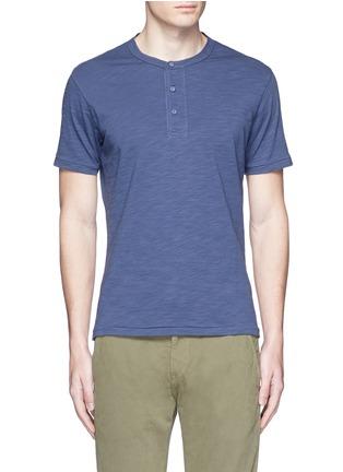 Main View - Click To Enlarge - Alex Mill - Garment dyed cotton slub Henley shirt