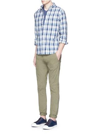 Figure View - Click To Enlarge - Alex Mill - Garment dyed cotton slub Henley shirt