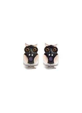 Main View - Click To Enlarge - Deakin & Francis  - FLAPPING OWL CUFFLINKS