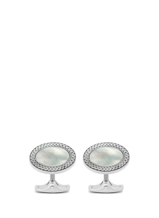 Main View - Click To Enlarge - Deakin & Francis  - Mother of pearl oval cufflinks