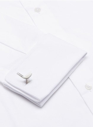 Figure View - Click To Enlarge - Deakin & Francis  - Asymmetric golf ball and club cufflinks