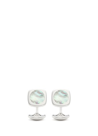 Main View - Click To Enlarge - Deakin & Francis  - Mother of pearl square cufflinks