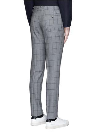 Back View - Click To Enlarge - Tomorrowland - Slim fit Fratelli Tallia di Delfino® windowpane check wool pants
