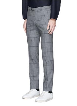 Front View - Click To Enlarge - Tomorrowland - Slim fit Fratelli Tallia di Delfino® windowpane check wool pants