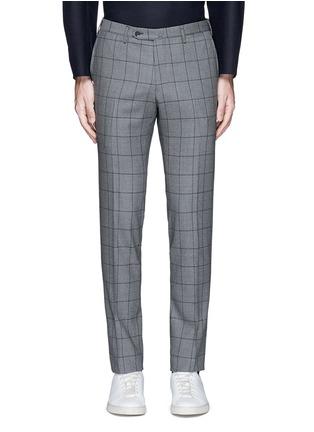 Main View - Click To Enlarge - Tomorrowland - Slim fit Fratelli Tallia di Delfino® windowpane check wool pants