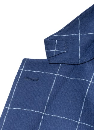 Detail View - Click To Enlarge - Tomorrowland - Zegna® windowpane check wool-cashmere soft blazer