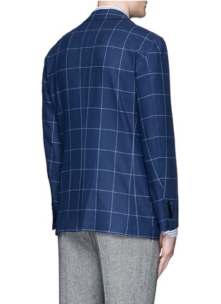 Back View - Click To Enlarge - Tomorrowland - Zegna® windowpane check wool-cashmere soft blazer