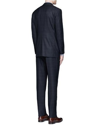 Back View - Click To Enlarge - TOMORROWLAND - Carlo Barbera® windowpane check wool herringbone suit