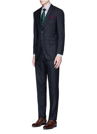 Figure View - Click To Enlarge - TOMORROWLAND - Carlo Barbera® windowpane check wool herringbone suit