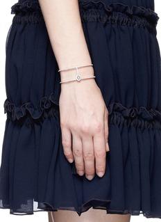 Messika 'Amazone Skinny 2 Rangs' diamond 18k white gold bracelet