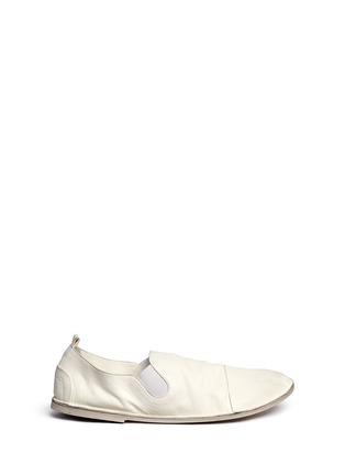 Main View - Click To Enlarge - Marsèll - 'Strasacco' toe cap leather slip-ons