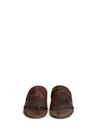 Front View - Click To Enlarge - Marsèll - 'Arsella' leather thong sandals