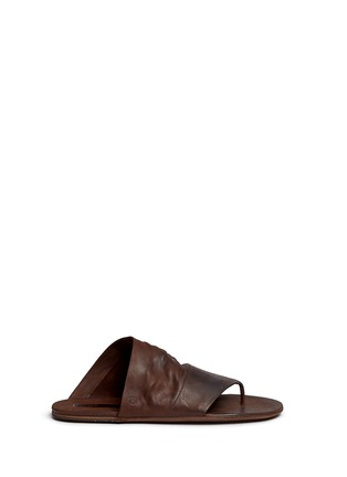 Main View - Click To Enlarge - Marsèll - 'Arsella' leather thong sandals