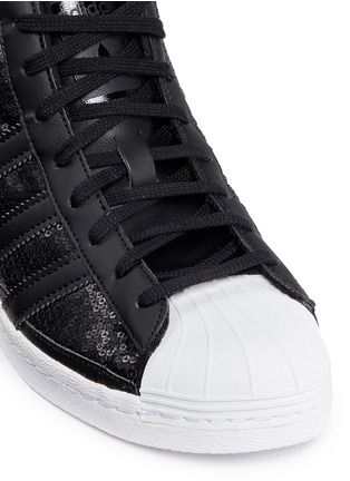 Detail View - Click To Enlarge - Adidas - 'Superstar Up' sequin high top sneakers