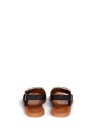 Back View - Click To Enlarge - Marni - Jewelled ponyhair slingback sandals