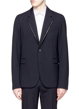 Main View - Click To Enlarge - McQ Alexander McQueen - 'Ghosting Curtis' double lapel blazer