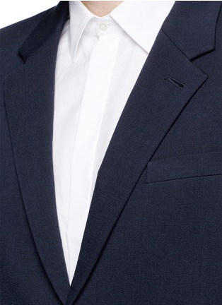 Detail View - Click To Enlarge - McQ Alexander McQueen - 'Curtis' notch lapel cotton blazer