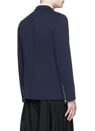Back View - Click To Enlarge - McQ Alexander McQueen - 'Curtis' notch lapel cotton blazer