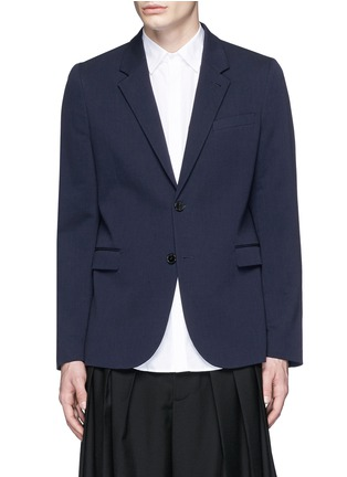 Main View - Click To Enlarge - McQ Alexander McQueen - 'Curtis' notch lapel cotton blazer
