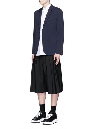 Figure View - Click To Enlarge - McQ Alexander McQueen - 'Curtis' notch lapel cotton blazer