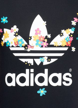 Detail View - Click To Enlarge - adidas By Pharrell Williams - Floral trefoil logo print T-shirt