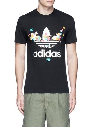 Main View - Click To Enlarge - adidas By Pharrell Williams - Floral trefoil logo print T-shirt