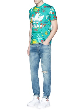 Figure View - Click To Enlarge - adidas By Pharrell Williams - Doodle' print Climalite® jersey T-shirt