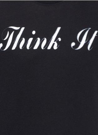 Detail View - Click To Enlarge - SAINT LAURENT - 'Think It' print cotton T-shirt