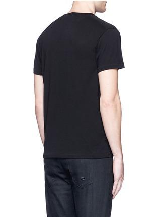 Back View - Click To Enlarge - SAINT LAURENT - 'Think It' print cotton T-shirt