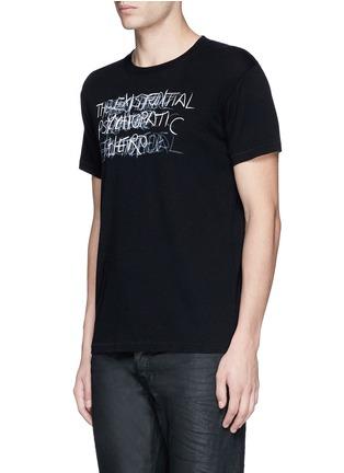 Front View - Click To Enlarge - SAINT LAURENT - 'Psycho' print T-shirt
