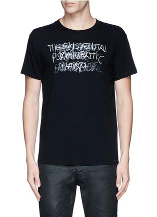 Main View - Click To Enlarge - SAINT LAURENT - 'Psycho' print T-shirt