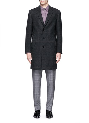 Main View - Click To Enlarge - Canali - Glen plaid wool coat