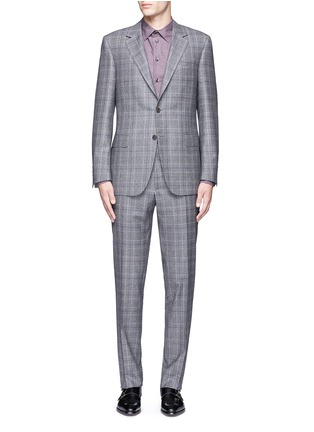 Main View - Click To Enlarge - Canali - 'Contemporary' Glen plaid wool suit