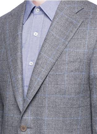 Detail View - Click To Enlarge - Canali - 'Capri' windowpane check wool-cashmere blazer