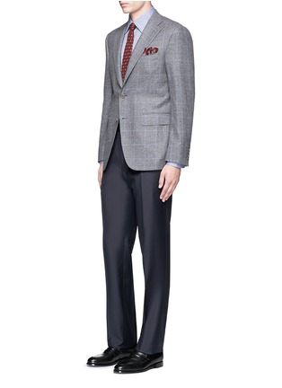 Figure View - Click To Enlarge - Canali - 'Capri' windowpane check wool-cashmere blazer