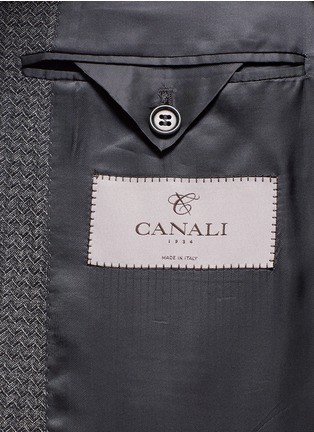 - Canali - 'Travel' chevron stripe wool suit