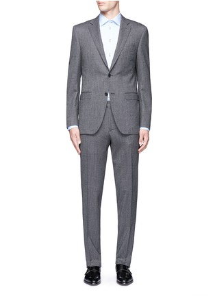 Main View - Click To Enlarge - Canali - 'Travel' chevron stripe wool suit