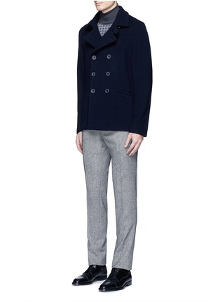Figure View - Click To Enlarge - Canali - Houndstooth Merino wool turtleneck sweater