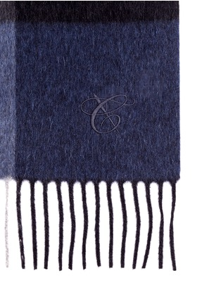 Detail View - Click To Enlarge - Canali - Colourblock wool-angora scarf