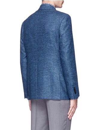 Back View - Click To Enlarge - CANALI - 'Kei' wool-silk-linen herringbone blazer